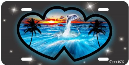 Two Hearts Ocean Style Tag-0