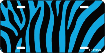 Black and Blue Zebra Print-0