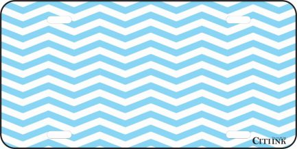 Blue and White Chevron -0