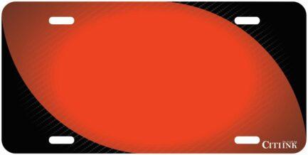Carbon Fiber Tag with Orange-0