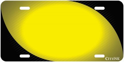 Carbon Fiber Tag with Yellow-0