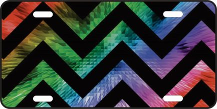 Colorful Chevron with Black Lines -0