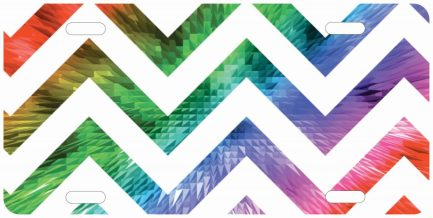 Colorful Chevron with White Lines 1-0