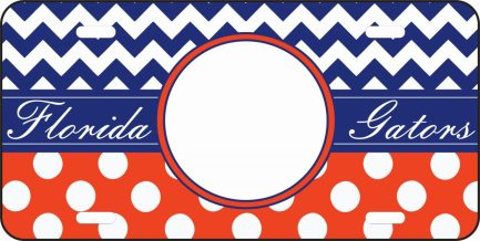 Flordia Gator inspired monogram car tag-0