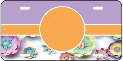 Flower Tag with Purple Background-0