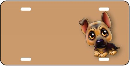 German Shepherd Cartoon Dog Tag-0