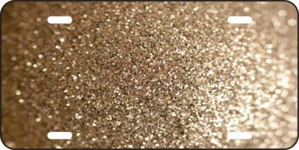 Gold Glitter Car Tag-0
