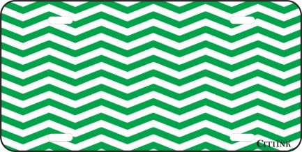 Green and White Chevron-0