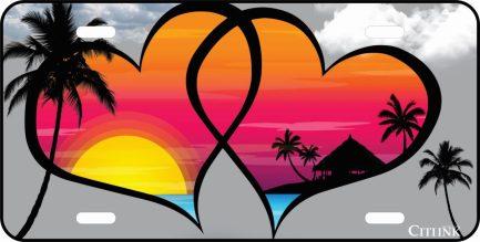Hearts With Sunset -0