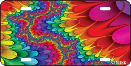 Colorful Illusion Car Tag -0
