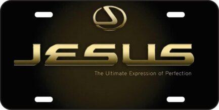 Jesus Lexus Car Tag-0