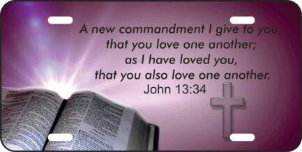 John 13:34 Car Tag-0