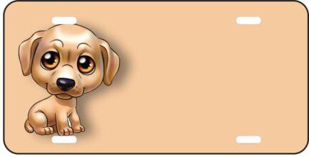 Lab Dog Cartoon Tag-0