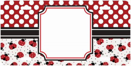 Lady Bug Monogram Car Tag-0
