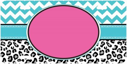 Lepered Print Monogram Car Tag-0