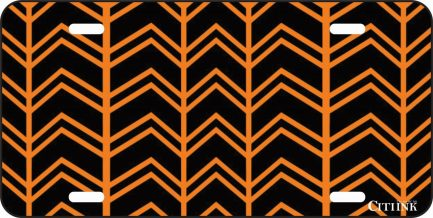 Orange and Black Chevron -0