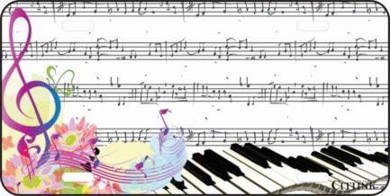 Piano Car Tag-0