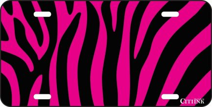 Pink and Black Zebra Print -0