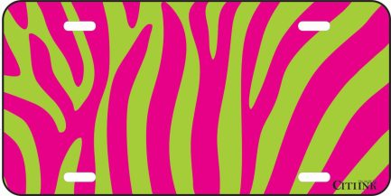 Pink and Green Zebra Print -0