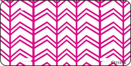 Pink and White Chevron -0
