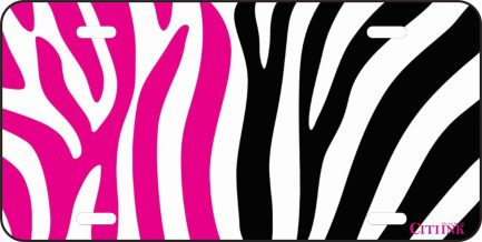 Pink Black and White Zebra Print -0