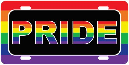 Pride Car Tag -0