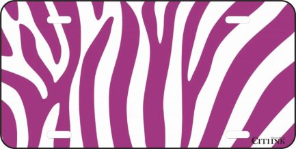 Purple and White Zebra Print -0
