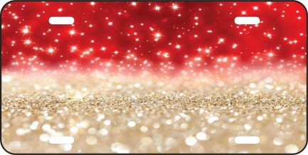 Red and Gold Glitter Tag-0