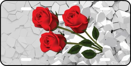 Rose Car Tag 3D-0