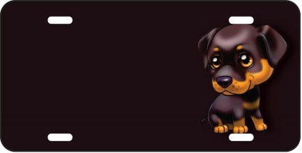 Rottweiler Cartoon Tag -0