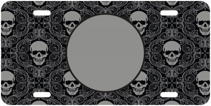 Skull Monogram Car Tag-0