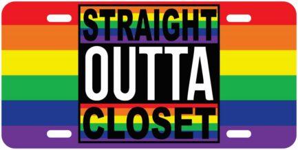 Straight Outta Closet Pride Tag-0