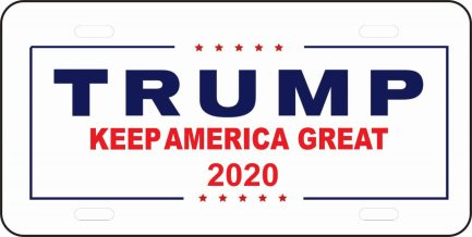 Trump 2020 Keep America Great Car Tag-0