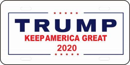 Trump 2020 Keep America Great Car Tag-0