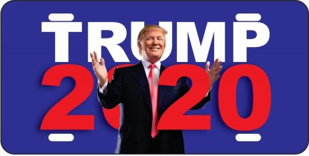 Trump 2020 Car Tag (Blue)-0