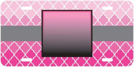 Victoria Inspired Monogram Car Tag Front Car Tag-0
