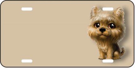 Yorky Dog Cartoon Tag-0
