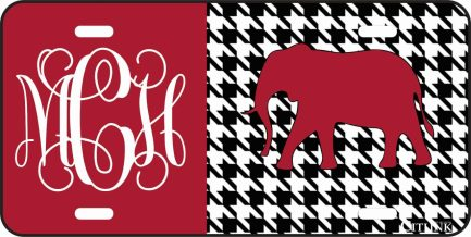 Bama Tag with Elephant Monogram Car Tag-0