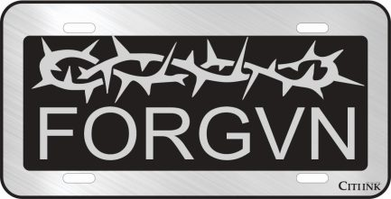 FORGVN Black Car Tag-0