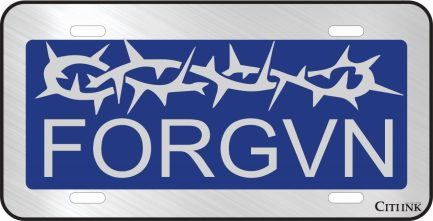 FORGVN Blue Car Tag-0