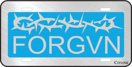 FORGVN Light Blue Car Tag-0