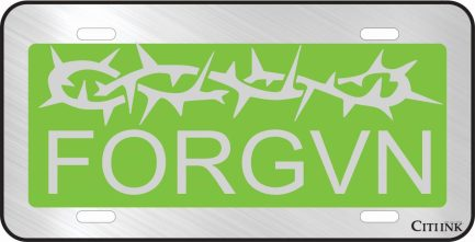 FORGVN Green Car Tag-0