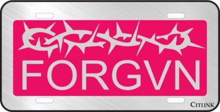 FORGVN Pink Car Tag-0