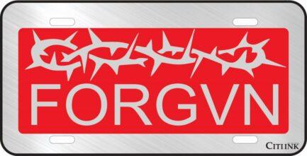 FORGVN Red Car Tag-0