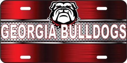 Georgia Bulldog Car Tag-0