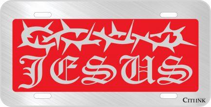 Jesus Red Car Tag-0