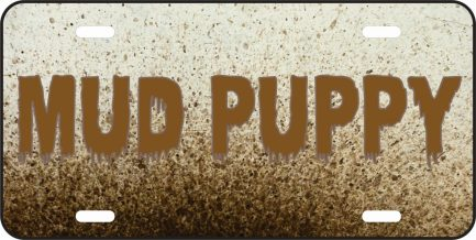 Mud Puppy Car Tag-0