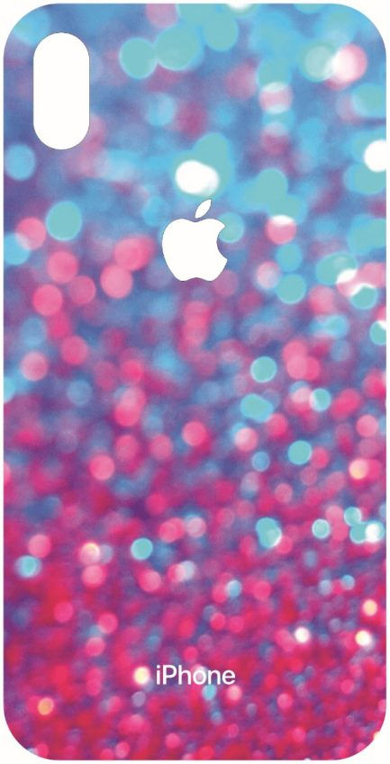 iPhone Xs Max Blue and Pink Glitter Design-0