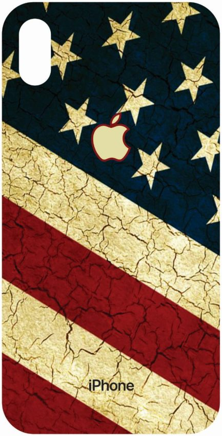iPhone Xs Max American Flag Skin-0