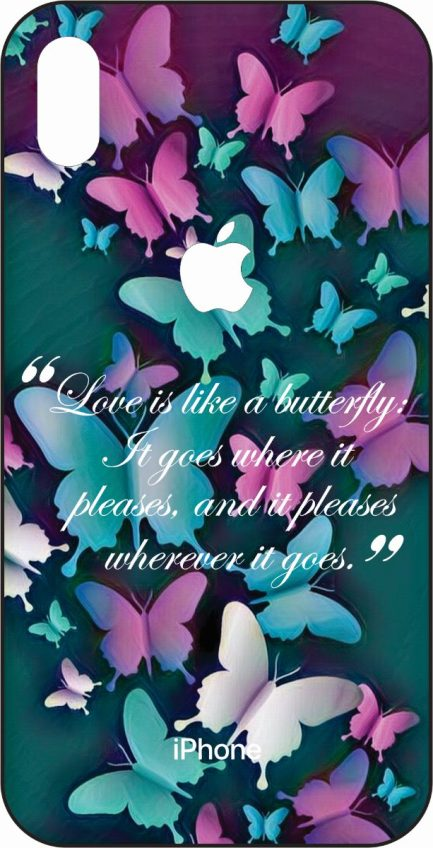 iPhone Xs Max Butterflies With Quote-0